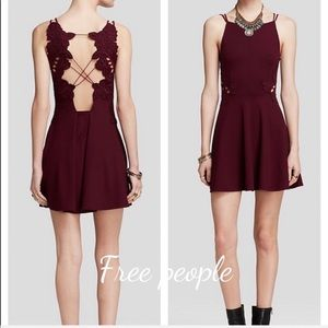 Free People open lace back skater dress